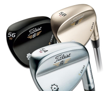Titleist SM5 wedges in Tour Chrome, 