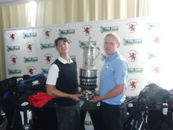 Paul Shields and Aubrey Barnard<br>Joint winners at the Northern Amateur Open