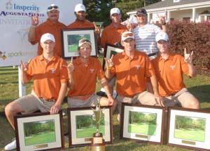 Hook em Horns!  University of Texas Men's Golf<br>2012 Insperity Augusta State Invit. Champions