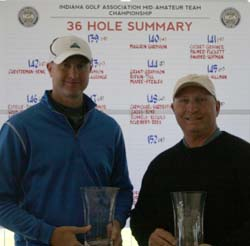 Clarence Hardison and Joe Mahurin<br>2012 Indiana Mid-Am Team Champions