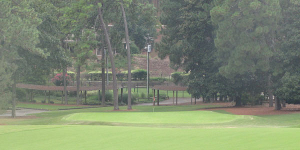 The 18th green at Pine Needles is the perfect closer