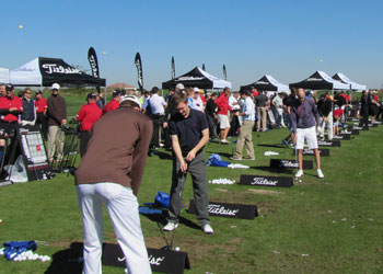 The Titleist tee was packed on Demo Day at <br>the 2013 PGA Merchandise Show