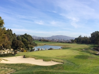 -- The 18th hole at Aviara Golf Club