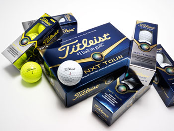 Team Titleist tests new NXT, Velocity balls