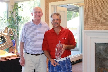 Tournament honoree Vinny Giles with the<br> inaugural winner Doug Hanzel