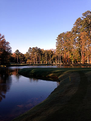 A beautiful Fall morning at<br>Duke University Golf Course