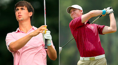 Ollie Schniederjans (left) and Jordan Niebrugge<br>Photos by Tracy Wilcox