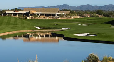 TPC Scottsdale Stadium, 18th hole<br>photo courtesy TPC Scottsdale