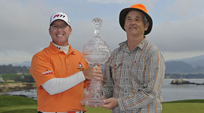 D.A. Points and Bill Murray celebrate in 2011<br>photo courtesy PGA Tour