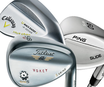 2015 wedges from Titleist, Callaway and Ping (above)<br>offer versatility and spin control