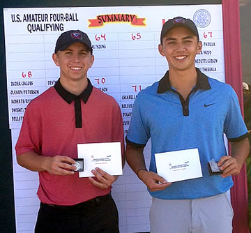 Chase Nicolai (left) and Cole Young <br>AmateurGolf.com photo
