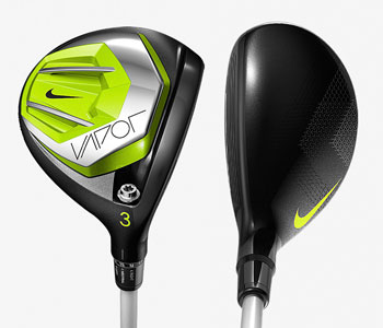 Nike Vapor fairway woods and hybrids are re-engineered to be lighter and faster.