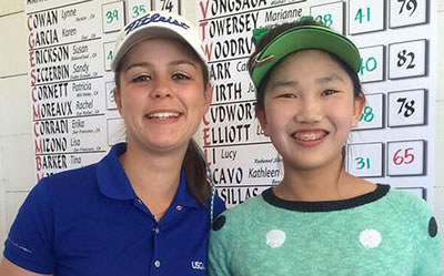 Kathleen Scavo and 12-year-old Lucy Li