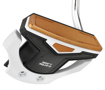 The TFI Smart Square putter promotes a soft feel and consistent speed across the face.