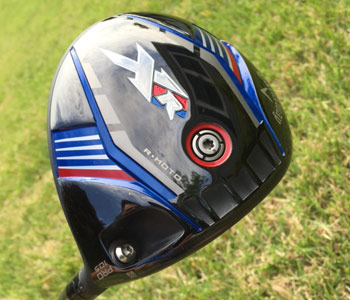 The aerodynamic Callaway XR Pro driver<br> blends speeds with forgiveness