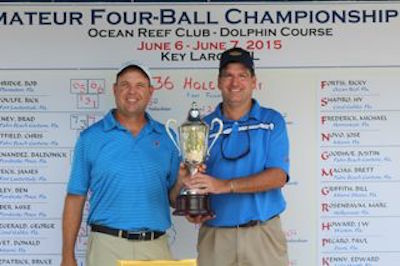 South champs Stephen Anderson, left, and R J Nakashian <br>Photo courtesy FSGA