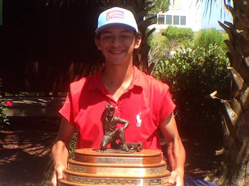 Christian Salzer, SCGA Junior Champion <br> Photo courtesy of @ChriSalzer