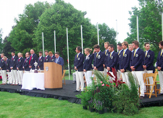 Opening ceremonies at the Palmer Cup<br>GCAA photo