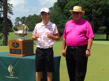 Back-to-back Southeastern Amateur winner<br>Grant Hirschman (Photo courtesy of Staci Titsworth)