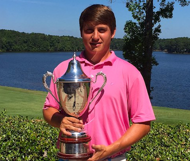 2015 South Carolina Match Play winner,<br>20-year-old Andrew Novak (CGA photo)
