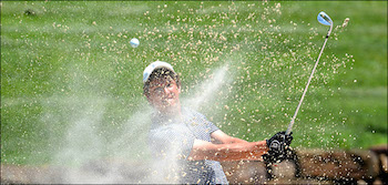 Kyle Vance showed expert bunker play on way to win <br> Photo courtesy of GAP