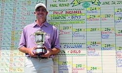 Philip Barbaree dominates in win<br>Photo courtesy AJGA