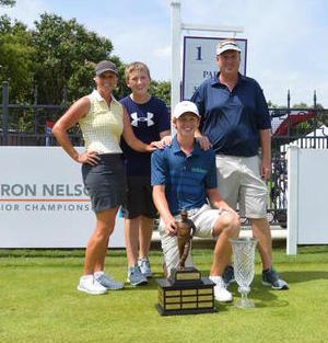 Ryan Grider and family at Byron Nelson Jr<br>Photo courtesy @AMPDgolffitness