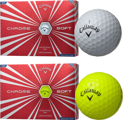 Callaway Chrome Soft comes in White or Yellow