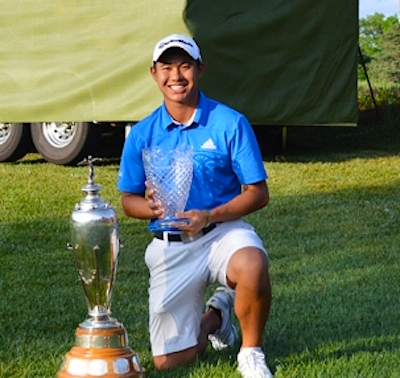 2015 Trans-Mississippi Championship winner Collin Morikawa<br>(Photo courtesy of Trans-Miss Golf Association)