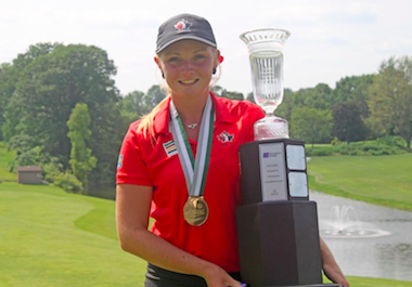 2015 Ontario Women's Amateur winner Maddie Szeryk<Br>(Photo by Golf Canada)