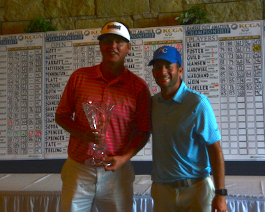 2015 K.C. Amateur winner Ryne Fisher (left) (KCGA photo)