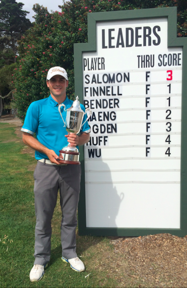 Inaugural Bayonet Black Horse Amateur<Br>winner Robby Salomon of Portola Valley