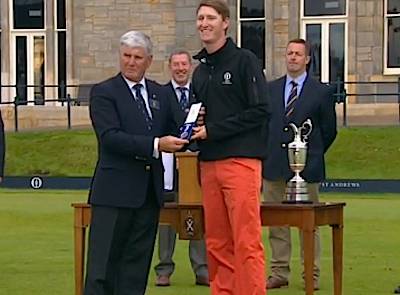 Niebrugge accepts Silver Medal at St. Andrews