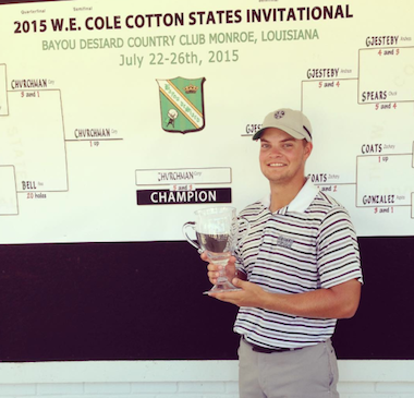 2015 Cotton States Invitational winner Cory Churchman