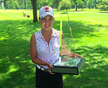 2015 Wisconsin Women's Amateur winner Rebecca<br>Klongland (Photo courtesy of WWSGA)