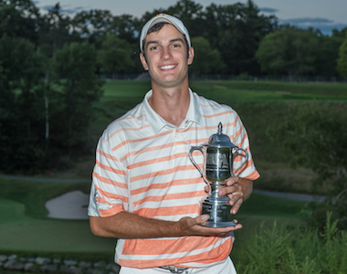 2015 Mass. Amateur Pub-Links winner Nick<Br>McLaughlin (Photo courtesy of the MGA)