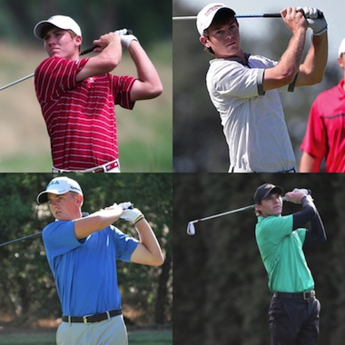 Medalist Robby Shelton (top left), will face<Br>Dawson Armstrong (top right) while Jake Knapp<br>(bottom left) will do battle with Aaron Wise