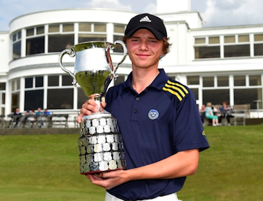 17-year-old Marcus Svensson of Sweden (R&A photo)