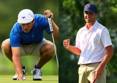 U.S. Amateur finalists Bryson DeChambeau of Clovis, Calif.<br>(left) and Derek Bard of New Hartford, N.Y. (USGA photos)