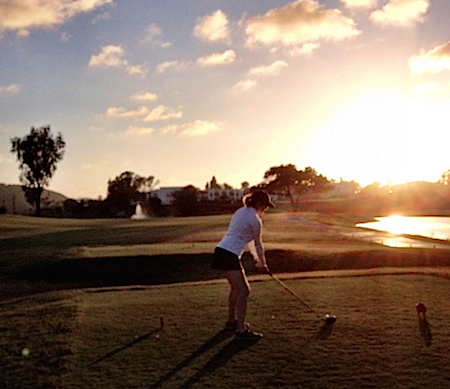 Sullivan tees off at #18 La Costa with her new GBB