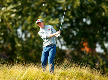 Irishman Gavin Moynihan teamed up with Jack Hume<br>to defeat the McCoys 3-and-2 (USGA/John Mummert)
