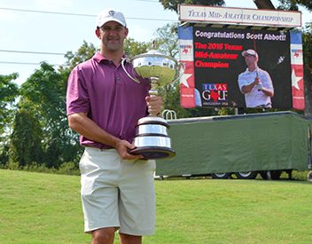2015 winner Scott Abbott (TXGA photo)