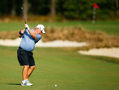 Medalist Randal Lewis during his <br>Round-of-32 matchup (USGA photo)