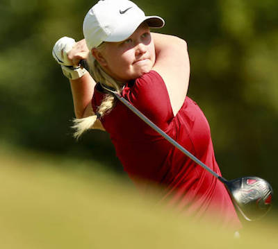 Whitney Britton won three straight holes to secure her win <br>USGA/Matt Sullivan photo