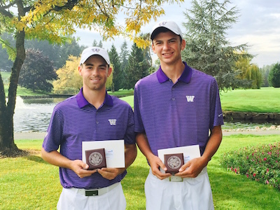 Frank Garber and Spencer Weiss qualified for US Am Four-Ball<br>WSGA photo