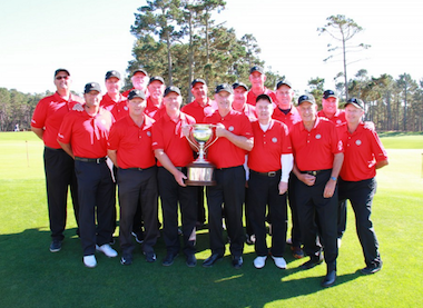 The winning NCPGA Seniors with the Cup (NCGA photo)