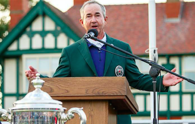Spider Miller will get another chance to captain the<Br>USA Walker Cup Team, this time at Los Angeles C.C.<br>(Photo by John Mummert/USGA)