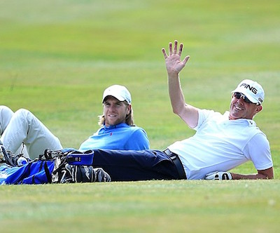Gary Hendley and Ben Daniels at the PGA Four-Ball<br>( Getty Images )