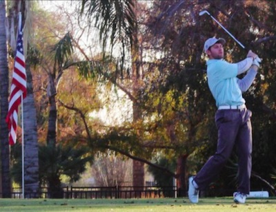 Adam Wood takes a 1-shot lead into the final round<br>Patriot All-America photo