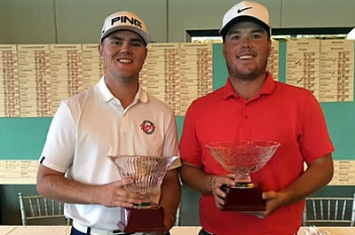 Champion Jimmy Jones (left) and runner-up Andrew McCain